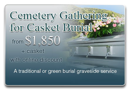 Cemetery Gathering for Casket Burial