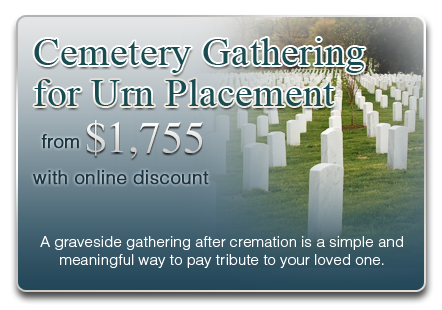 Cemetery Gathering for Urn Placement