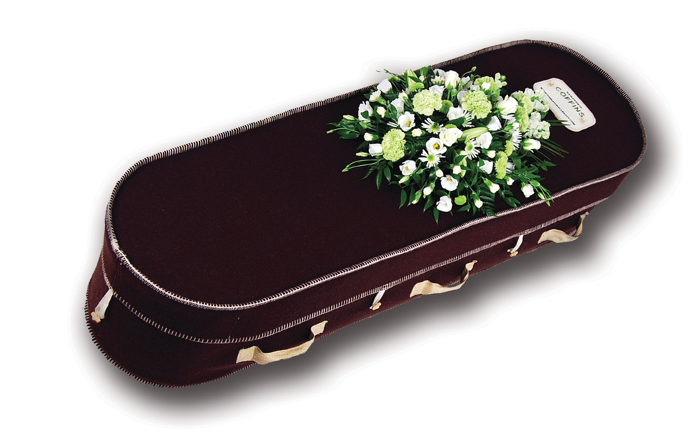 The Brown Hainsworth Wool Green Burial and Cremation Casket